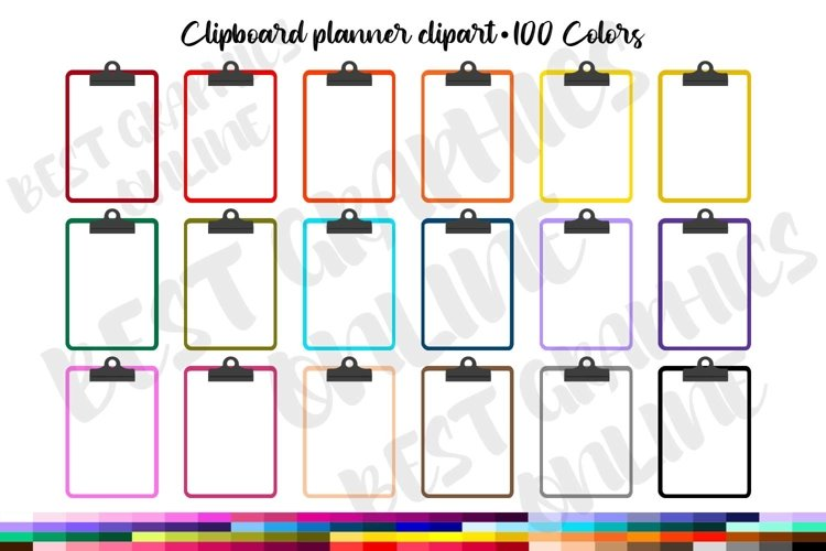 100 Clipboard clipart, Clipboard printable planner stickers