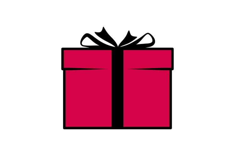 Birthday party gift box icon example image 1