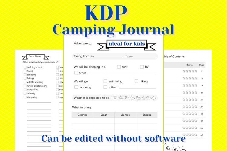 KDP Camping Journal