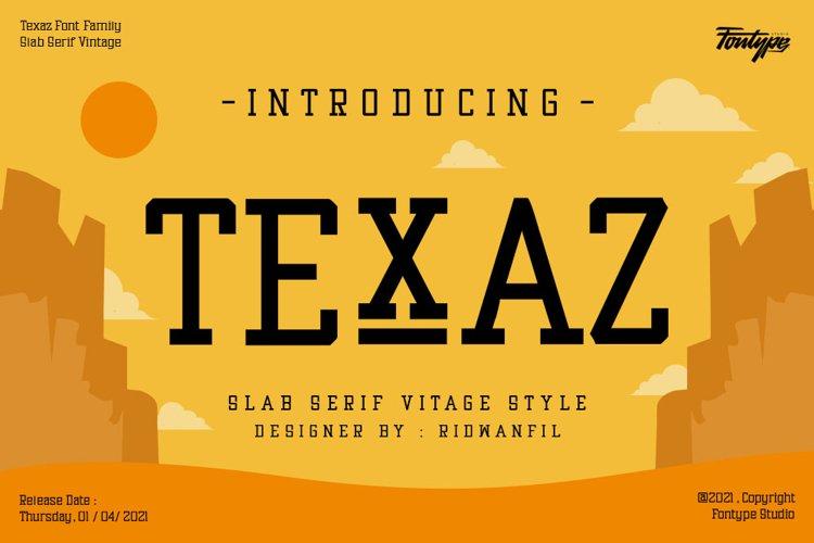 Texaz Font Family - Slab Serif Vintage Font Style