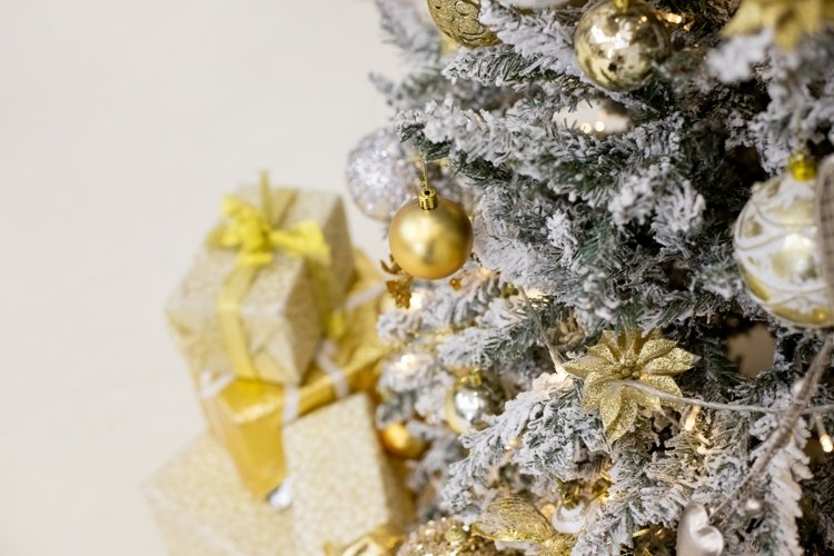 Christmas ornaments decorated christmas tree example image 1