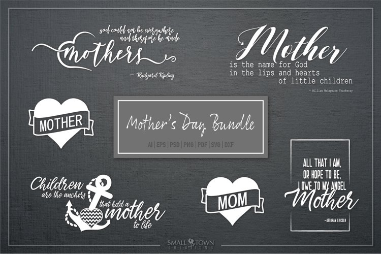 Mothers Day Bundle, Mom, Mother, Quote, PRINT, CUT & DESIGN