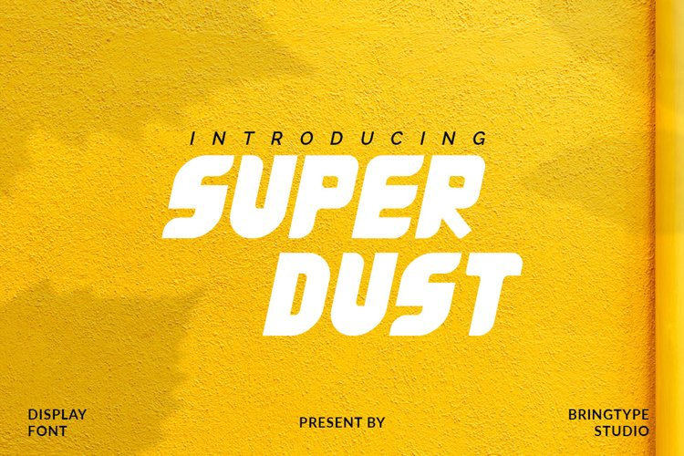 Super Dust Font example image 1