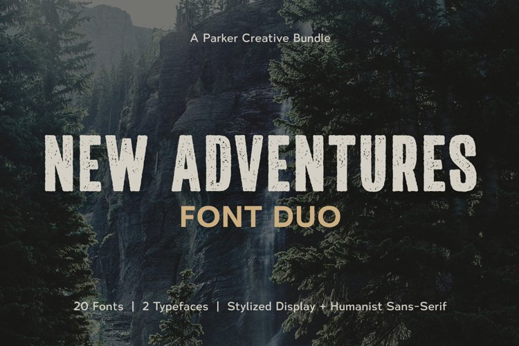 Adventures Font | Duo by Parker Creative