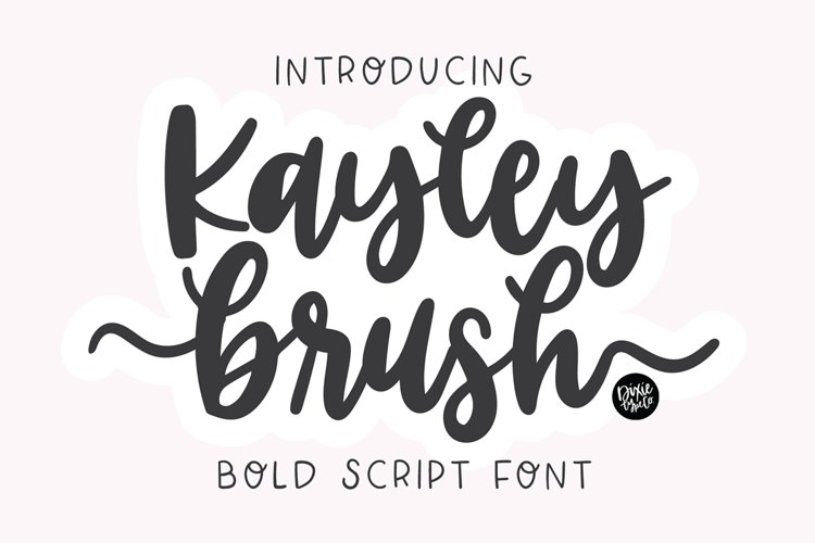 KAYLEY BRUSH a Beautiful Flourish Script example image 1
