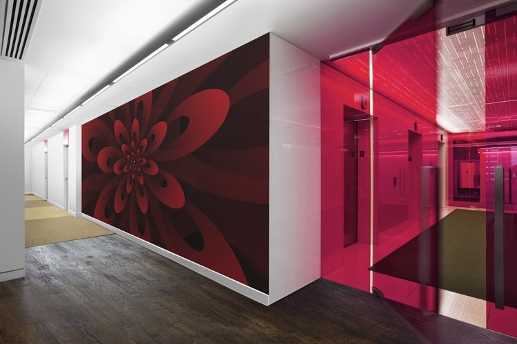 Abstract 3D Digital Modern Red Floral Design Background example image 1