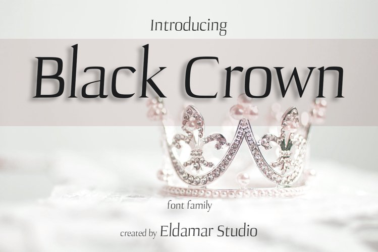 Black crown Font example image 1