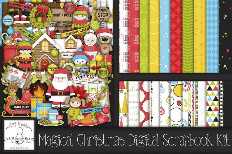 Magical Christmas Digital Scrapbook Kit.