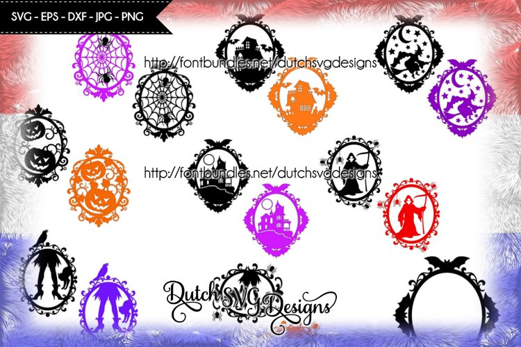 SPECIAL OFFER 9 Halloween frame cut files for only 12 dollar