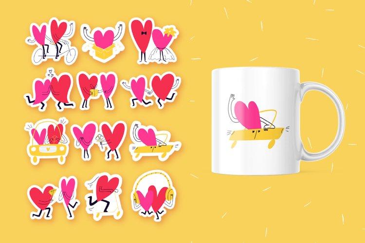Printable Stickers. Valentines Sticker Sheet. Love Stickers.