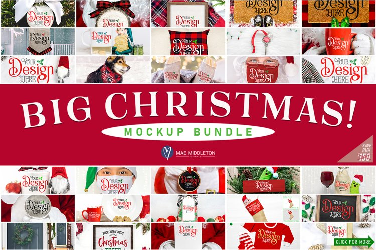 Christmas Mockup Bundle   Big, Fun Mockups!
