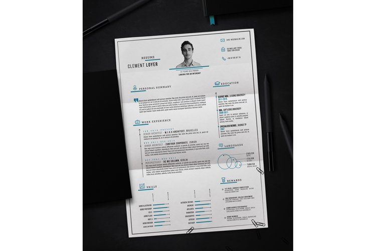 Precise Blue Resume