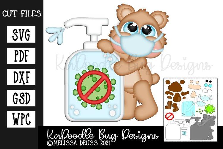 Coronavirus Sanitizer Bear Cut File - SVG PDF DXF GSD WPC