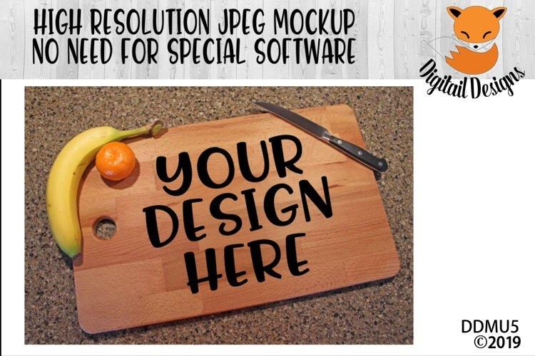 Kitchen Cutting Board Mock Up Mockup example image 1