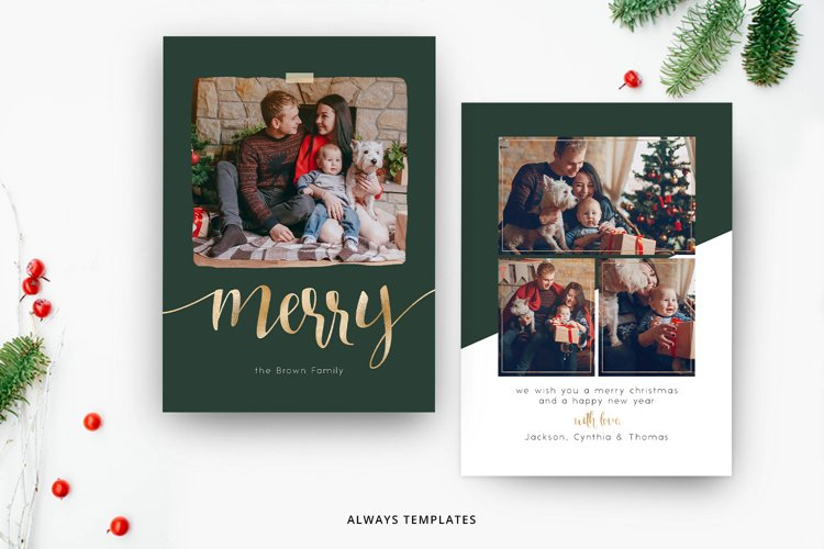 Christmas Card Template CC084 example image 1