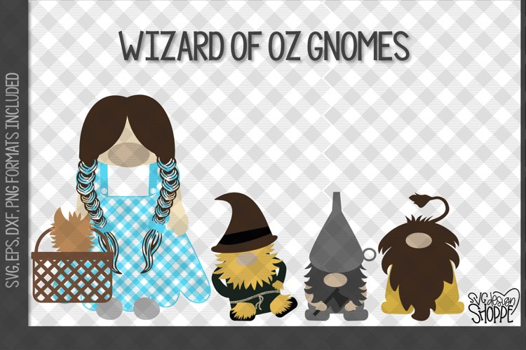 Gnome, Wizard of Oz, Gnomes, SVG example image 1