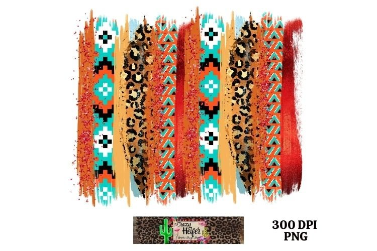 Southwestern Leopard Brush Stroke Dye Sublimation