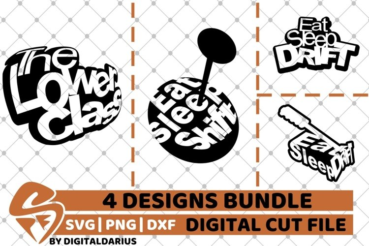 4x Car Designs Bundle svg, Camping svg, Tuning svg, Drift example image 1