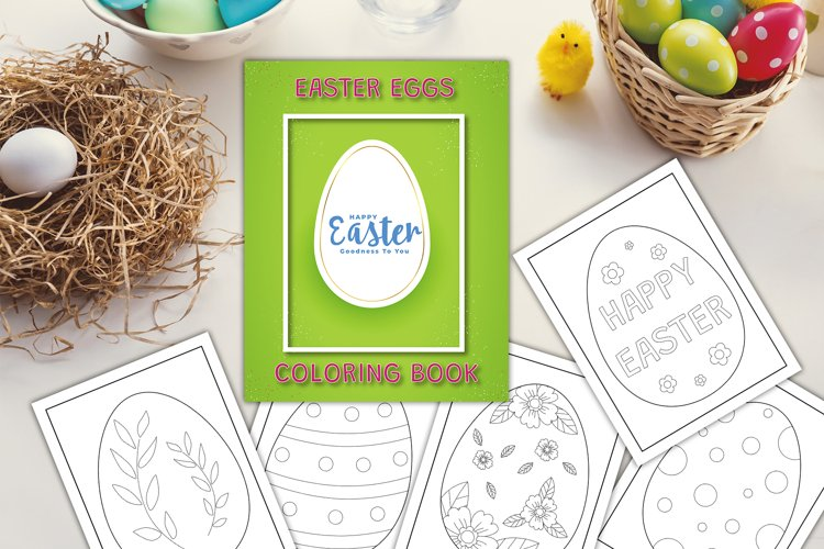 Easter Eggs - Coloring book/pages - Happy Easter