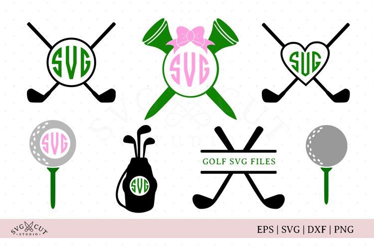 Golf Monogram Frames SVG Cut Files