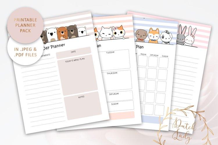 Printable Planner Bundle #4 - JPEG & PDF Files