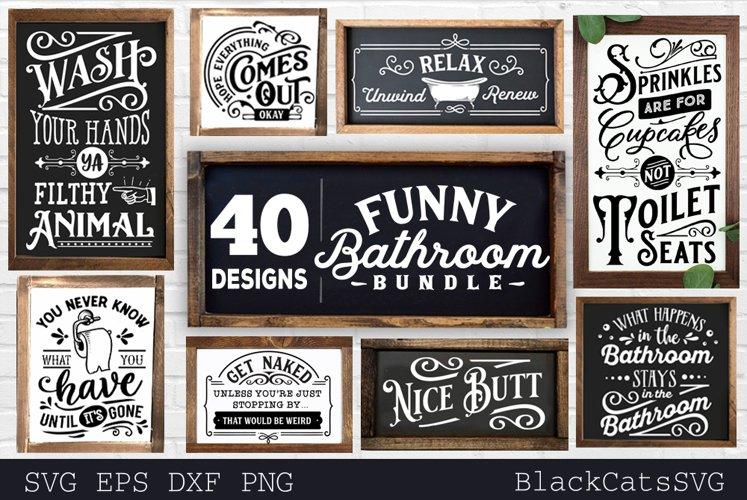 Funny Bathroom Bundle SVG 40 designs vol 1