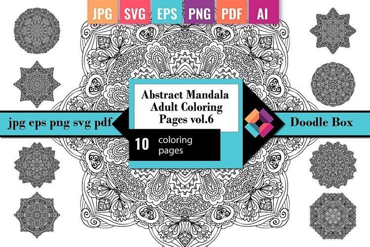 Mandala Coloring Pages Vol.6 example
