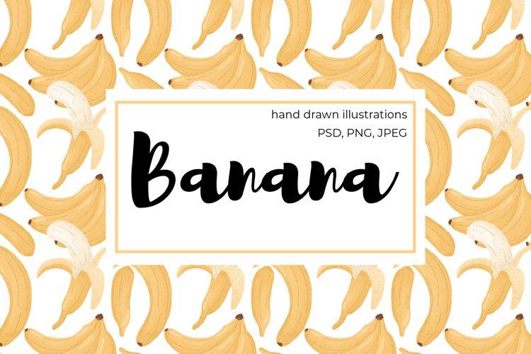 Banana hand drawn clip art example image 1