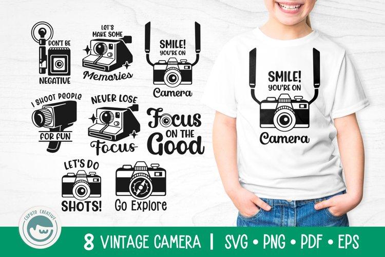 Camera SVG Cut Files Bundle example image 1