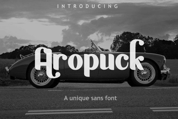 Aropuck Font example image 1