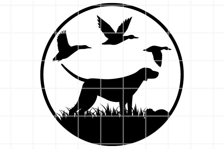 Duck hunting SVG. Wildlife cut file. Hunting cutting set. example image 1