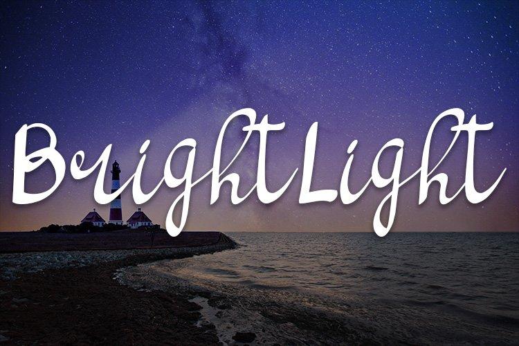 bright light script handwritten font