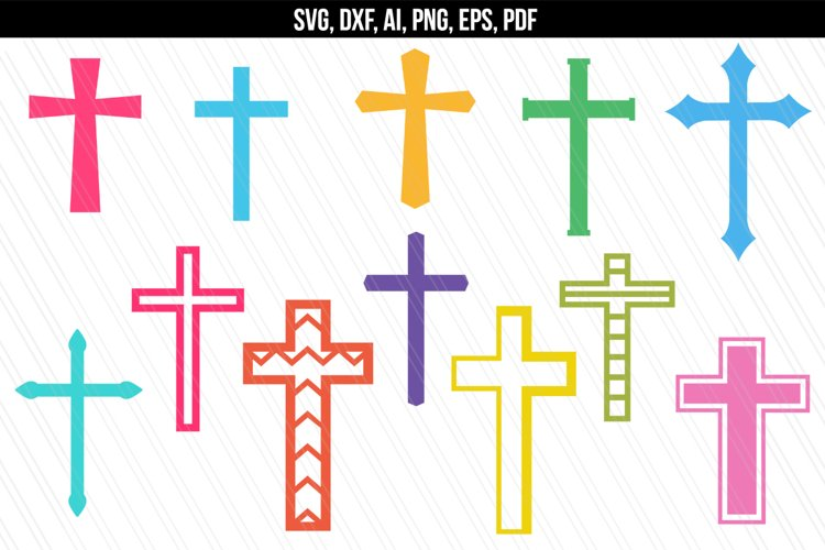 Christian cross Svg example image 1