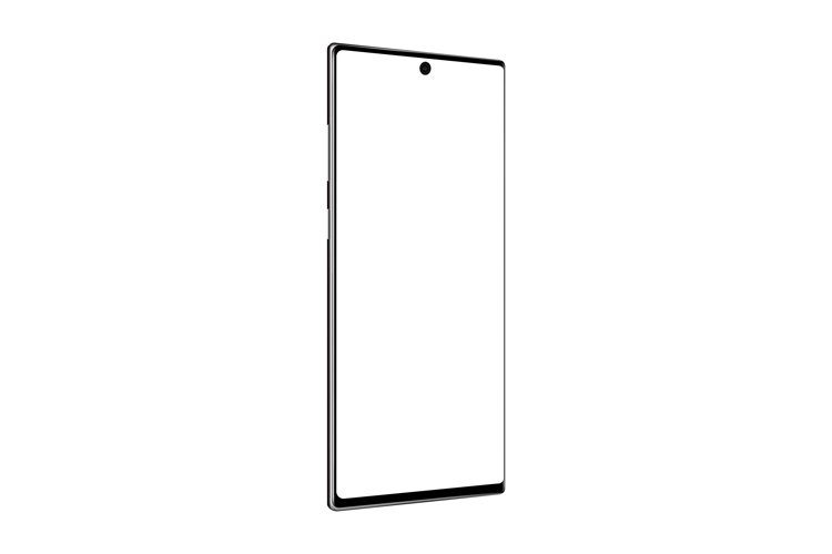 Modern smartphone mockup with perspective side view example image 1