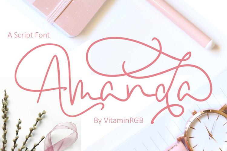 Amanda Script Font example image 1