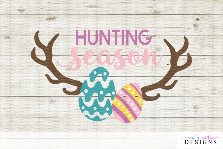 Hunting Season Easter Egg Hunt Cut File