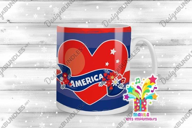 4th July Mug Sublimation Designs #2 example image 1