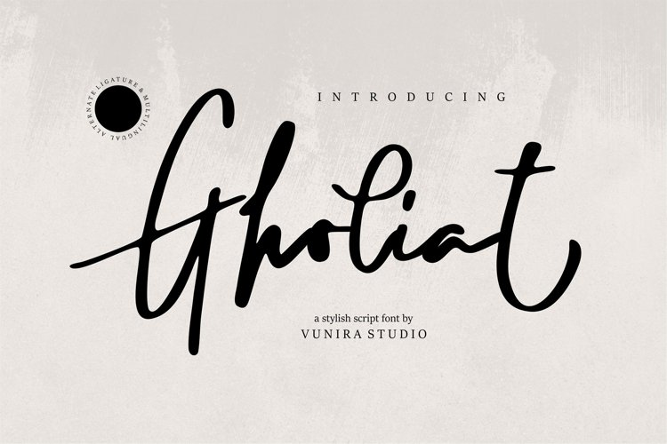 Gholiat | Stylish Script Font example image 1