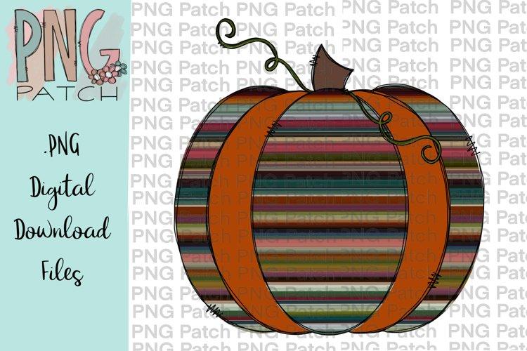 Serape and Orange Pumpkin, Fall PNG, Pumpkin Sublimation example image 1
