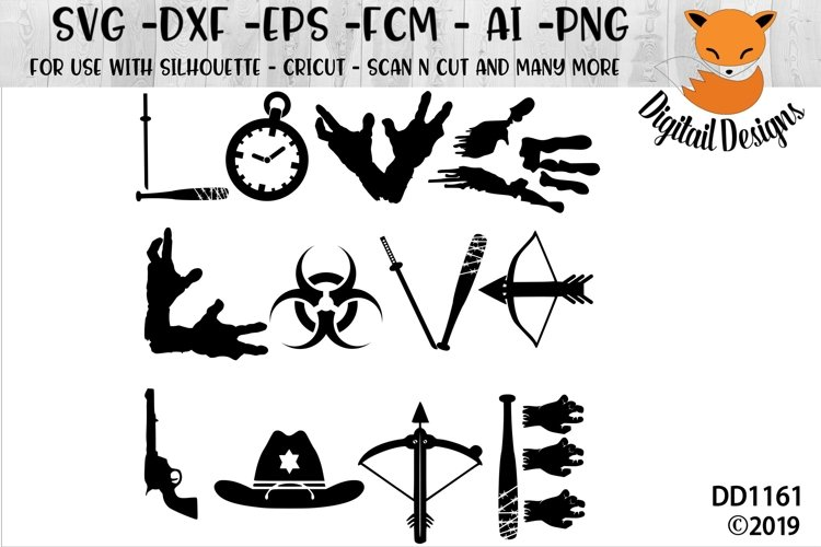 Love Zombies SVG for Silhouette, Cricut, Scan N Cut
