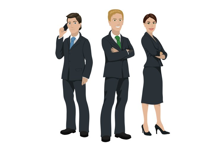Business people illustration example image 1