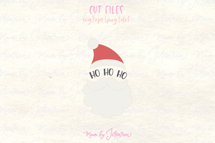 Santa svg, santa head svg, santa hat svg example image 1