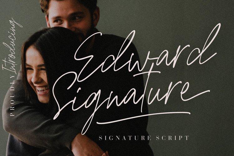 Edward Signature Script example image 1