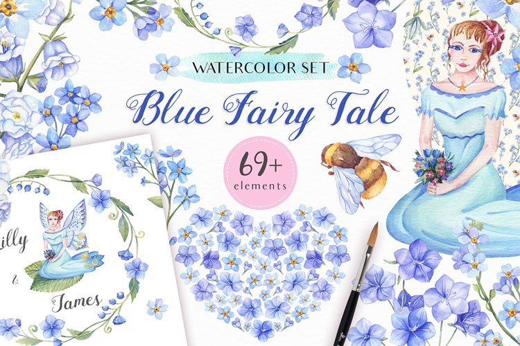 Blue Fairy Tale - Watercolor collection