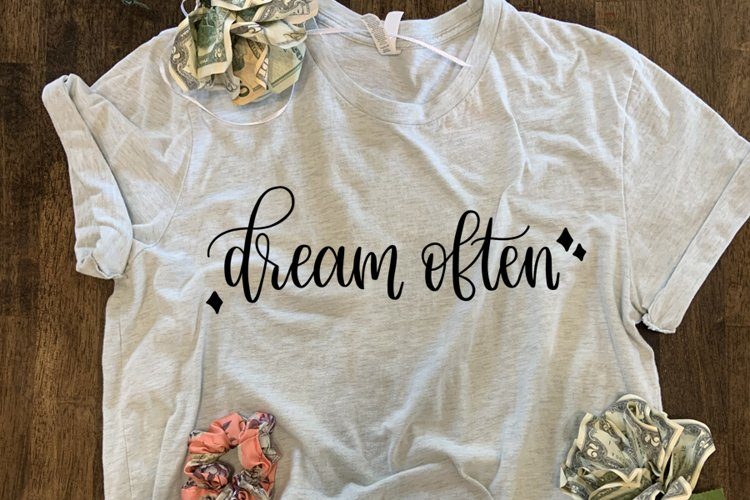 Dream Often SVG//cut file//PNG//Hand Drawn example image 1