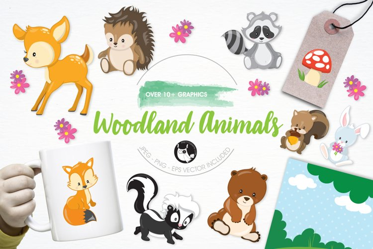 Woodland Animals graphics and illustrations - Free Design of The Week Font