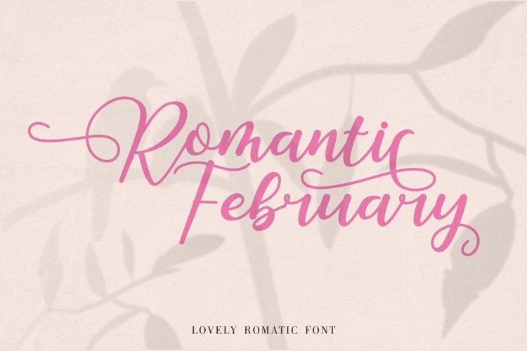 Romantic February - Lovely Romantic Font