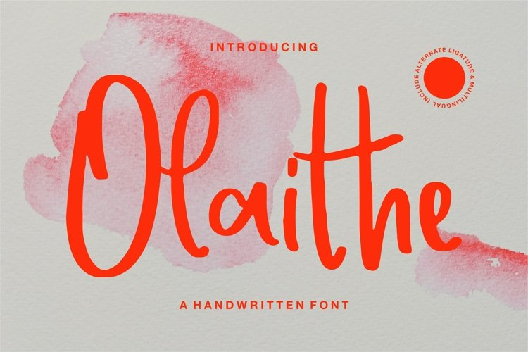 Olaithe - A Handwritten Font example image 1