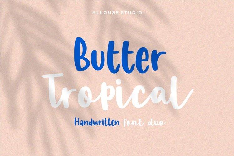 Web Font - Butter Tropical - Handwritten Font Duo example image 1