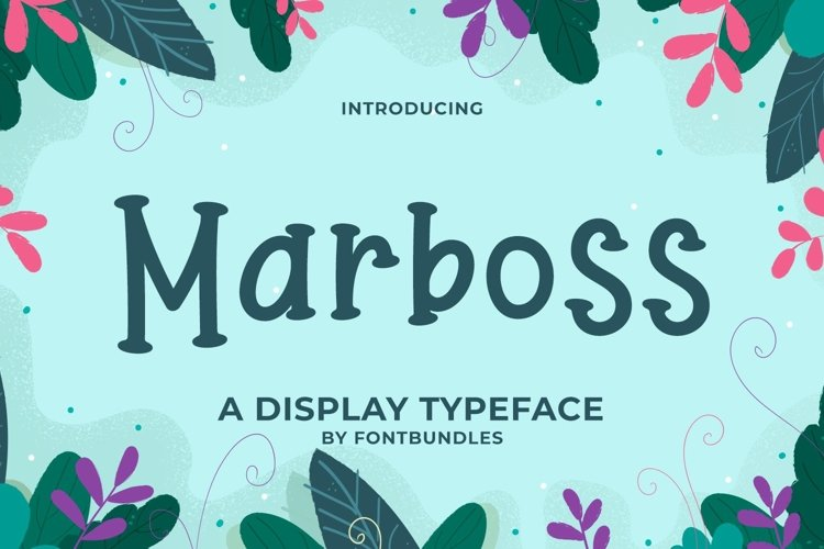 Web Font Marboss example image 1